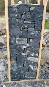 siyah tekirdağ taşı kareli kolon uygulama