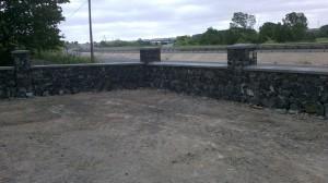 tekirdağ sıyah karma yığma taş duvar