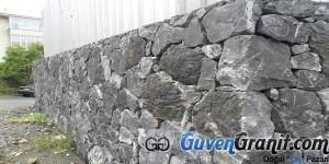 drzsız drenajlı yıığma taş duvar