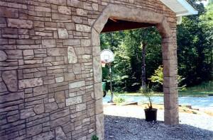 yatay örgülü taş duvar