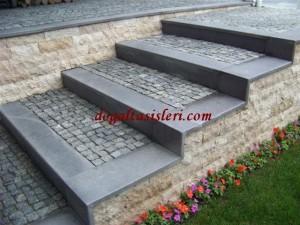 bazalt karışık granit küp taş