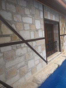 kandıra taşı ahşap karışık duvar