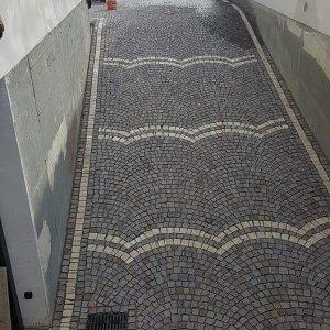 granit küp taşı yol döşemesi