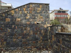 gebze taşı ebatlı yığma taş duvar